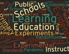 A graphic with words related to learning and education.