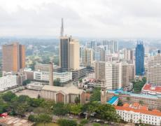 An image of the skyline in Nairobi