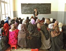 A school in Afghanistan. Photo by UN Photo/Eskinder Debebe