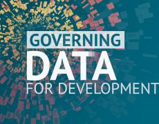A graphic that says Governing Data for Development
