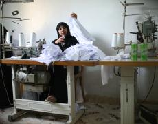 Women working at a textile factory in Luxor, Egypt. Photo by Dominic Chavez, World Bank