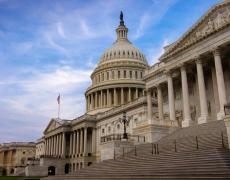 A photo of the US capitol building