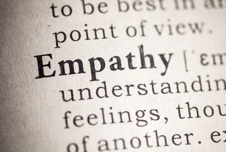 An image of the dictionary definition of empathy