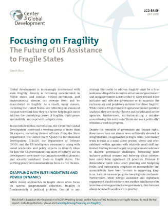 Cover of brief Focusing on Fragility