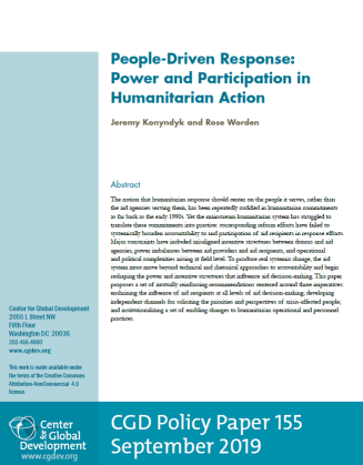 The cover of the policy paper