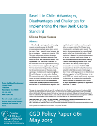 Basel III in Chile: Advantages, Disadvantages and Challenges for Implementing the New Bank Capital Standard